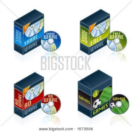 Conjunto de ícones do computador Hardware - elementos de Design 57F