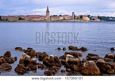 Town of Porec coast view UNESCO landmark in Istria