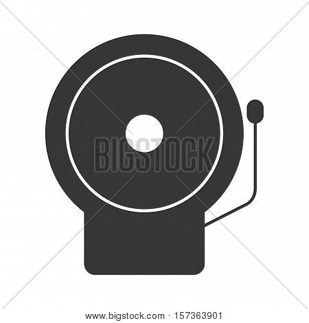 monochrome silhouette with fire alarm vector illustration