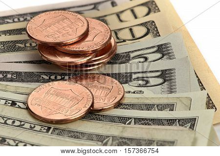 Us Currency. Dollars And Cents