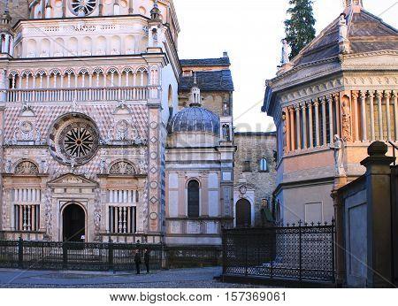 Temple in the city center of Bergamo
