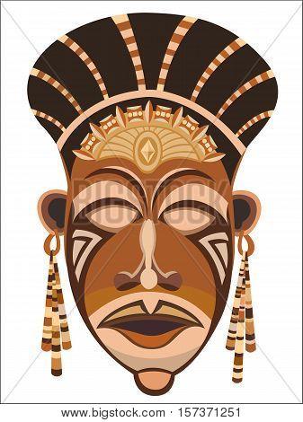 African women's indigenous tribal ethnic mask vector image