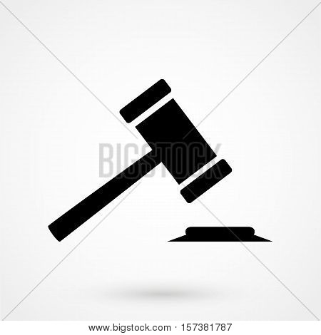 Hammer Of Justice - Vector Icon