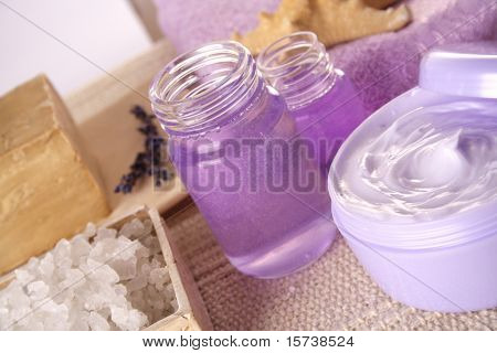 SPA cosmetics series. cosmetics products: lavender products