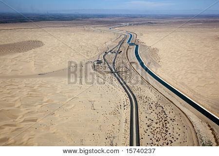 California Desert, Imperial Sand Dunes, Interstate 8