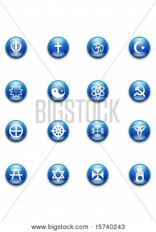 Religious Rounded Blue