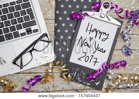 New Years Eve Business Card happy new year 2017