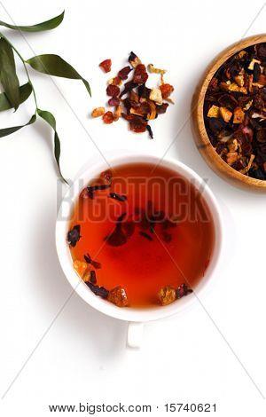closeup of fruit tea. healthy lifestyle