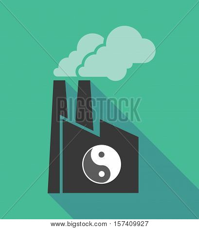 Factory Icon With A Ying Yang