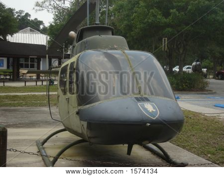 US Vietnam War era helicopter at a