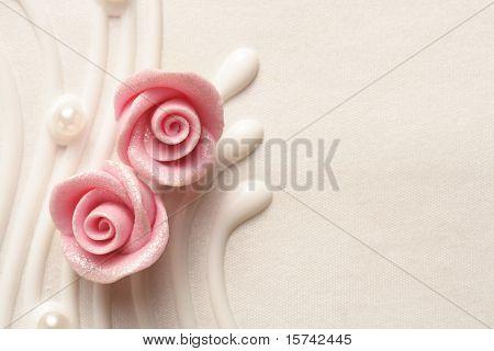 pastel de boda rosas