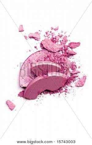 Crushed blush isolated on white