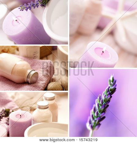 Lavendel SPA collage