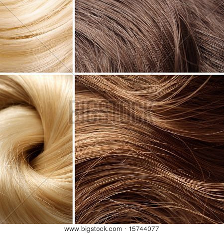 langen blonden Haaren collage