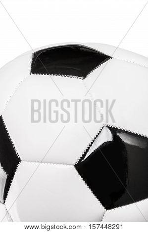 Soccer ball or football bright studio isolation