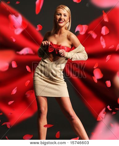 Romantic style portrait of a stunning beauty
