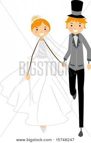Illustration of Newlyweds on the Run