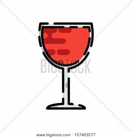 Wine flat icon for your design. Wine tasting. Vector illustration, EPS 10
