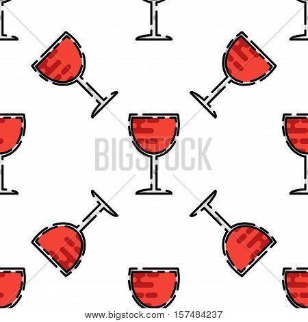 Wine flat pattern for your design. Wine tasting. Vector illustration, EPS 10