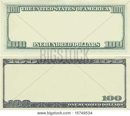 Clear 100 Dollar Banknote Pattern