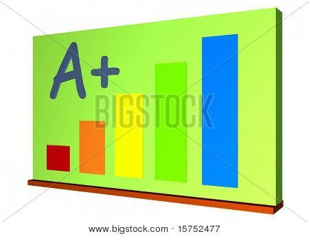 Chalk Board or Green Board for Schools Isolated