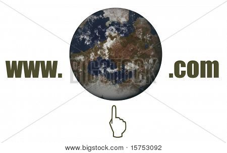 World Wide Web Dot Com Concept on White Background