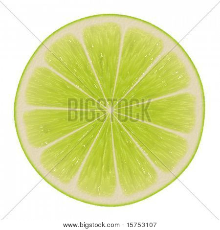 Lime Slice Isolated on a White Background