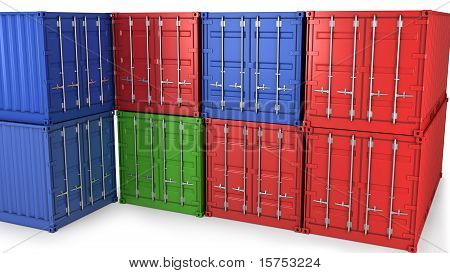 Many Freight Containers