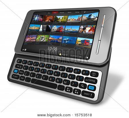 Smartphone de pantalla táctil deslizante lateral