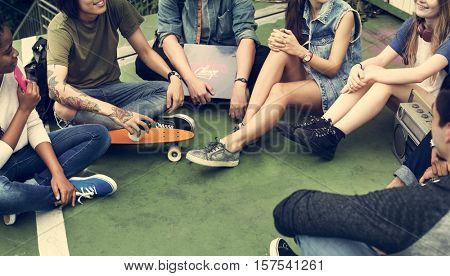 Friends Hipster Teenager Buddies Concept