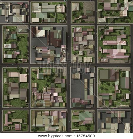 Real Estate Property Neighborhood Homes Top View