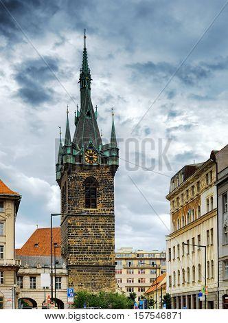 The Henry's Bell Tower (jindrisska Tower) In Prague, Czech Republic