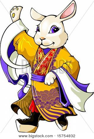 Rabbit: Chinese new year greeting card