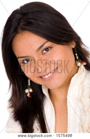 Beautiful Latin American Girl Portrait