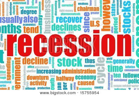 Recession Economic Concept Text Cloud Background
