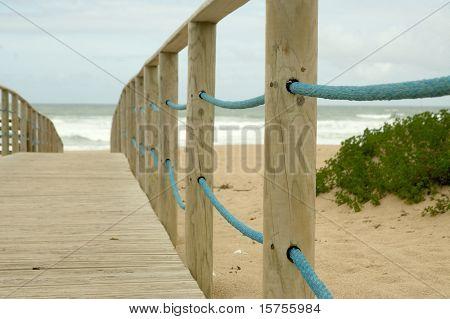 Wooden passage