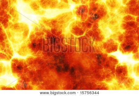 Fiery Background Explosion Raging Flame as a Art