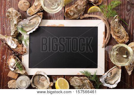 crustacean and blacboard