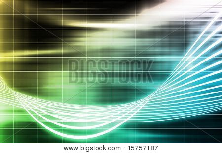 A Ray of Light Beams Streaks Art Background
