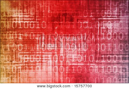 Virus Red Abstract Background with Internet Network