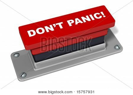 Don't Panic Button In Red 3D Rendered Illustration