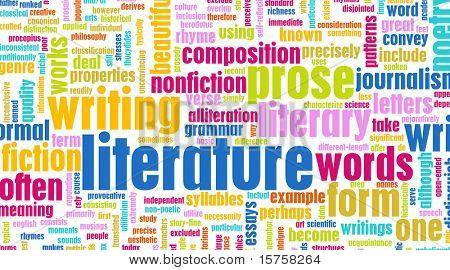Literatur moderne Bildung Hintergrund als eine art