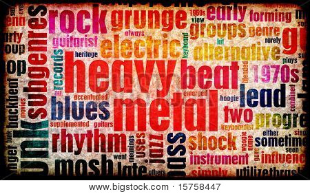 Heavy Metal Music Poster Art as a Background