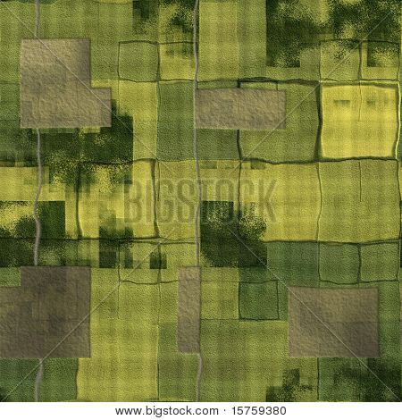 Farm Land Background With a Top Down View