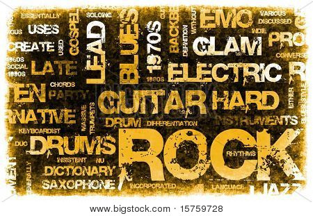 Rock Music Party Invitation as Poster Art