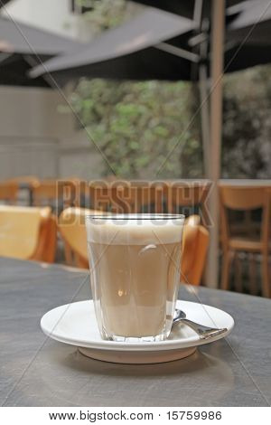 Cup of Coffee After Shopping in a Mall