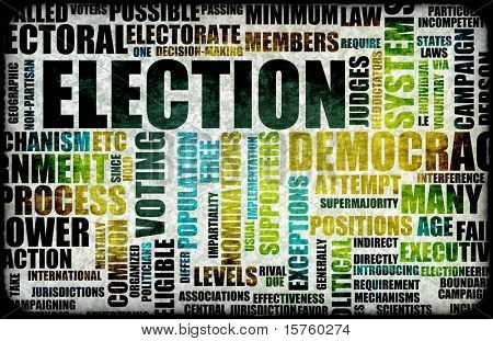 Election Process Campaign as a Concept Background