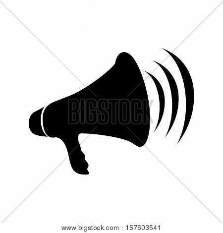 vector of megaphone icon on white background