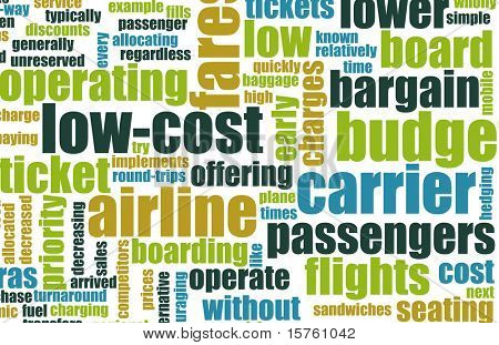 Low Cost Carrier Budget Airline Concept Art
