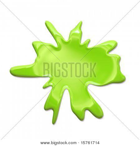 Paint Splatter Blob Isolated on White Background